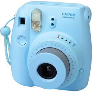 Fujifilm Instax Mini 8 Instant Film Blue Camera  Bundle